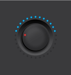 Black knob vector