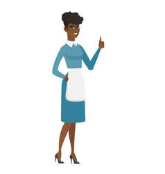 Cleaner giving thumb up vector