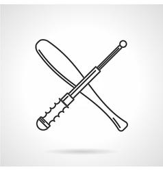 Contour icon for baton vector