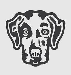 Dalmatian Head Logo Mascot Emblem vector image