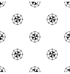 Diamond gemstone pattern seamless black vector
