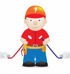 electrician vector image vector image