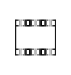 Film strip sign vector image
