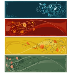flowers abstract banners vector image vector image