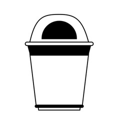 garbage can or bin icon image vector image