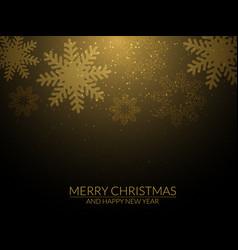 golden snowflake background vector image vector image