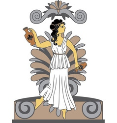 Greek woman with amphoras vector image vector image