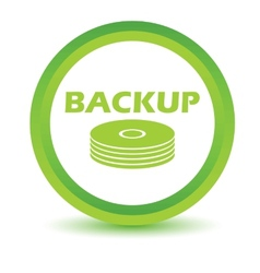 Green backup icon vector