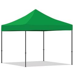 Green folding tent vector