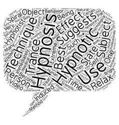 Hypnotism techniques text background wordcloud vector