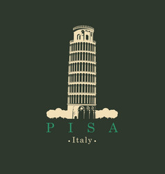 Image italian leaning tower in pisa vector