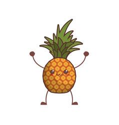 Kawaii pineapple fruit image vector