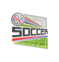 logo for soccer vector image