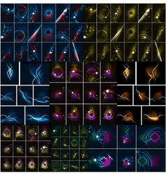 Mega collection or dark space backgrounds with vector image vector image