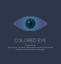 modern colored logo eye vector image vector image