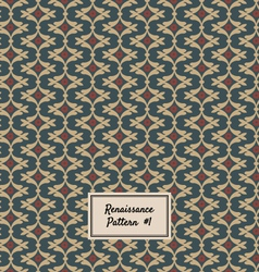 Pattern Renaissance style vector image vector image