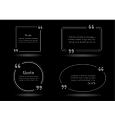 quote shadow black background vector image vector image