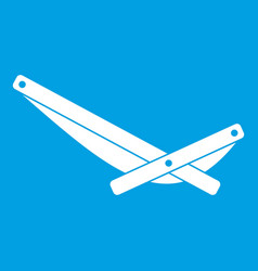 Recliner icon white vector