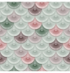 Seamless pastel river fish scales vector image