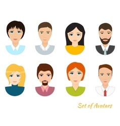 set of office team icons vector image vector image
