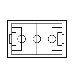 Soccer field icon outline style vector