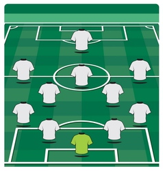 Soccer field layout with formation vector
