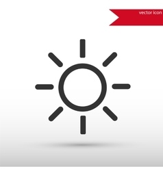 Sun black icon and jpg Flat style object vector image vector image
