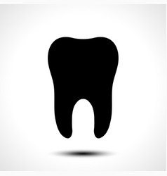 tooth icon vector image vector image