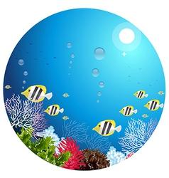 Under water vector image vector image