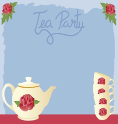 Vintage tea party vector
