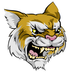 Wildcat mascot character vector