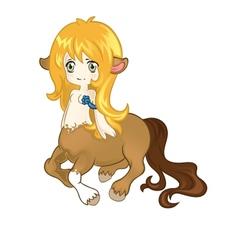 Young friendly centaur vector