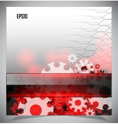 Red and white modern futuristic background vector