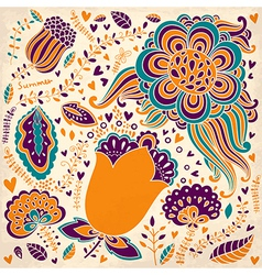 Abstract and colourful spring garden vector image