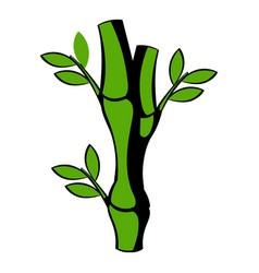 green bamboo stem icon icon cartoon vector image