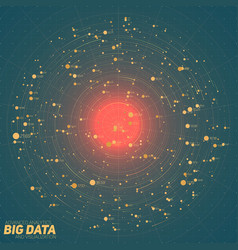 Big data green visualization vector