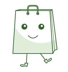 Shopping bag comic character vector