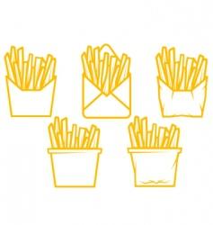 potato fast food vector image