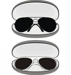 Sunglasses in cases vector