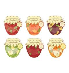 Jars of jam vector
