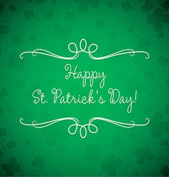 Swirl typographic st patricks day card in format vector