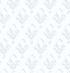 Quilling paper Fleur-de-lis vector image