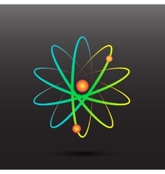 Rainbow atomic energy symbol icon vector