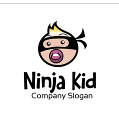 Ninja kid design vector
