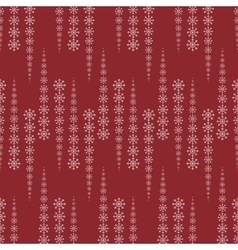 Snowflakes on a red background abstract pattern vector