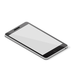 Blank screen smartphone vector