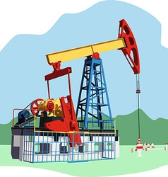 Colored oil rig vector