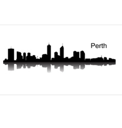 Detailed Perth silhouette skyline vector image