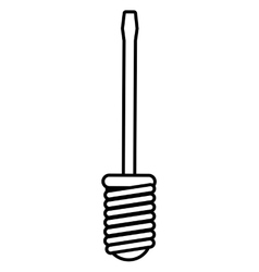 Screwdriver icon repair tool design vector