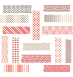 Washi tape graphics set vector